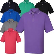 NEW FOOTJOY SMOOTH PIQUE w/ STRIPE TRIM POLO GOLF SHIRT, PICK COLOR & SIZE, $85