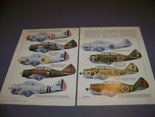 VINTAGE..SEVERSKY P-35 VARIANTS....9 FULL COLOR PROFILES..RARE! (969P)