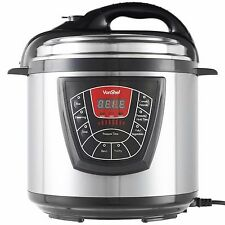 VonShef Electric Pressure Cooker 8 Function 6 Litre Stainless Steel Rice Cooker