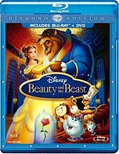 Disney's Beauty and the Beast (Blu-ray/DVD, 2010, 3-Disc Set) *With Slipcover*