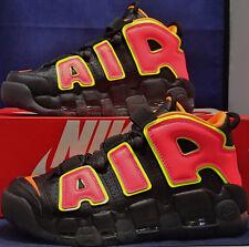 Womens Nike Air More Uptempo Black Hot Punch Volt SZ 11 / Mens 9.5 ( 917593-002)