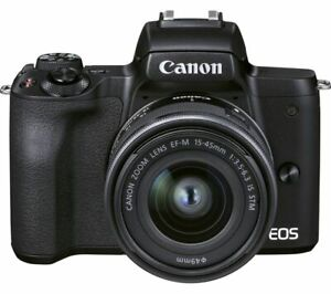 CANON EOS M50 Mark II Mirrorless Camera EF-M 15-45 mm f/3.5-6.3 IS STM Lens