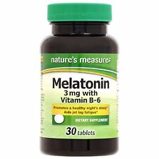 30 ct Nature's Measure Melatonin 3 mg with B-6 US Seller *Free Shipping*
