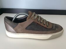 Lanvin Mens Sneakers, Trainers, Uk 6 Eu40, Brown Suede Leather, Vgc