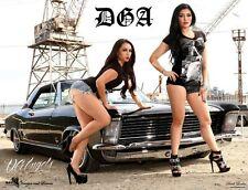 DGA David Gonzales Art Dark Ladies Lowrider Poster 18 x 24
