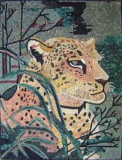 "40""x 32"" Handmade Tiger Marble Mosaic Mural Home Decor Stone Art Tile"