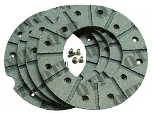 BRAKE DISC LININGS & RIVETS FOR FORDSON & CASE IH TRACTORS
