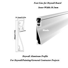 Hanks80X16mm LED Drywall Aluminum Channel,Recessed to Replace Wall Foot Line