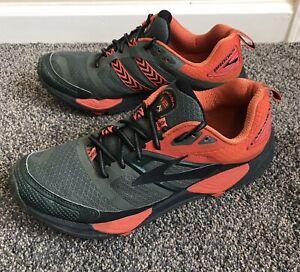 Brooks Cascadia 12 1102431D362 Olive Orange Running Shoes Lace Up Mens Size 10 D