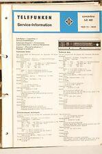 Service Plan für Telefunken concertino hifi 401