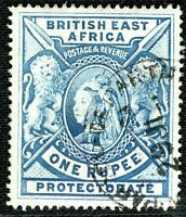 BRITISH EAST AFRICA (KUT) QV SG.92a 1r Dull Blue (1901) Used CDS c£65+ 2WHITE5