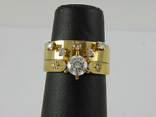 Estate 18ct Solid Gold Solitare Diamond Engagement Ring & Diamond Eternity ring