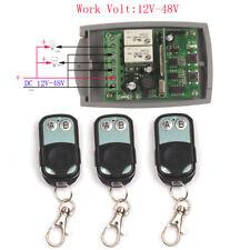 Interruptor de control remoto inalámbrico 24V 36V 12V-48V 2CH Interruptor De Relé código individual
