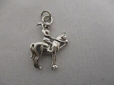"""VINTAGE STERLING SILVER CANADIAN MOUNTIE MOUNTED POLICE CHARM 1"""""""