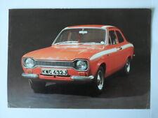 FORD ESCORT MEXICO MK1 orig c1970 Sales Leaflet Brochure Folder in Dutch