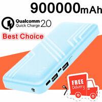 2USB Portable Power Bank 900000mAh Fast Charging External Backup Battery Charger