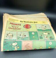 31 x Sunday Comic Strips 1970 Doonesbury Phantom Dick Tracy Vintage Newspaper
