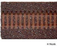 Tillig 86301 TT Gleisbettung Modellgleis dunkel für gerades Gleis  - 332 mm NEU!