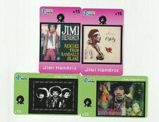 (4) Rare Phone Cards - Jimi Hendrix