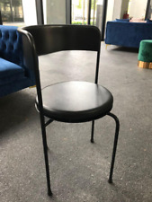 Black steel dining chairs-designer inspired