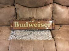 "Vintage 1940's Budweiser Beer Bar Tavern 28"" Lighted Metal Light Sign~Works"