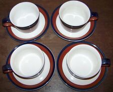 Mikasa - Fire Song (Qty 4) mugs / cups & saucers #PF003 / NEW Mint-  condion