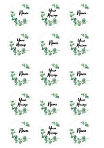Eucalyptus Plant Personalised Cupcake Toppers Icing Wafer Paper Edible Print