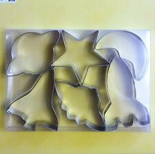 Space Cookie Cutters Starship Shuttle Rocket Saturn Moon Star Fondant Baking set