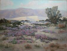WILLIAM GALEN DOSS-CA Impressionist-Large Original Signed Oil-Desert Landscape