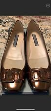 ANNE KLEIN Kamari BRONZE Leather Flats Size 7M