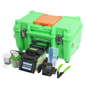 High End Fusion Splicer Kit GX39 Splicing Machine with Cleaver,Sleeves,Cleaners