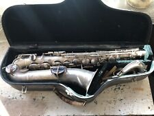 Oliver Ditson Silver Plated C Melody Sax
