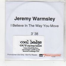 (FN195) Jeremy Warmsley, I Believe In The Way You Move - 2006 DJ CD