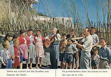 Carte ESPAGNE Spain Evangélisation Spanien Musiciens entourés d'enfants