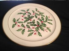 "Lenox Holiday 12 1/2"" Round Platter: Nice!"