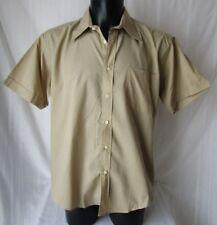 ***X-ZONE CAMICIA Shirt TG.L in MISTO COTONE Colore beige manica corta