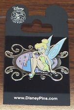 Disney Tinkerbell Sitting In Glitter Ornament Castle Frame 2008 Collectible Pin!
