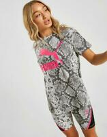 New Puma Women's All Over Print Snake T-Shirt