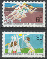 Germany West Berlin 1982 MNH Mi 664-665 Sc B191-192 Sport. Running,volleyball **