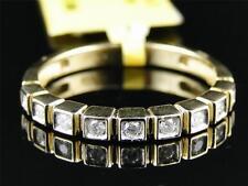 10k Mujer Oro Amarillo Diamante Redondo Fantasía Anillo de Compromiso 0.15Ct