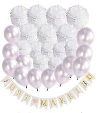 """Hochzeits deko - Papier Pompons-Girlande -""""Just Married"""" -Party Dekoration - NEU"""