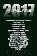 Polaris Owners Manual Book 2017 Sportsman 450 HO EPS