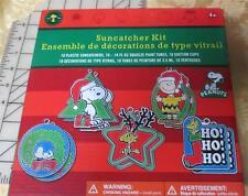 NIB Snoopy Suncatcher Christmas makes 10 ornaments Snoopy & Peanuts Gang