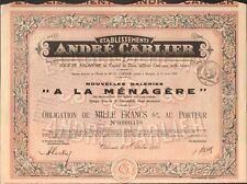 ANDRÉ CARLIER - A LA MÉNAGÈRE (CANNES) (F)