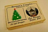 Vintage Sealed Playing Cards - Berman's Christmas Gift Shoppe - Supper Club OHIO