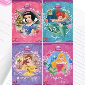 Disney Princesses handwriting exercise book, sparkling, glittery covers A5, 16p