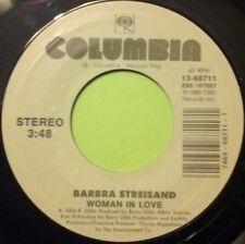 "BARBRA STREISAND - WOMAN IN LOVE / RUN WILD 7"" VINYL COLUMBIA HALL OF FAME NM"