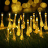 Outdoor Solar 30 LED Raindrop String Light Garden Patio Yar Landscape Lamp Party