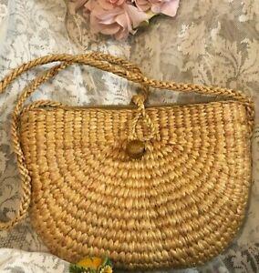 Women  Handmade Wicker Handbag  Shoulder bag gift Fashion Summer Beach Holiday