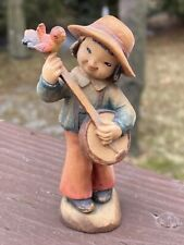 "Anri Wood Carving 3� ""Happy Strumming� #651-592 (1979) Mint Original"